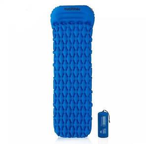 Килимок надувний з подушкою Naturehike синій NH19Z012-P, фото 2