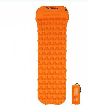 Килимок надувний з подушкою Naturehike помаранчевий NH19Z012-P, фото 2