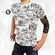 Мужская качественная футболка Inscriptions White Белая