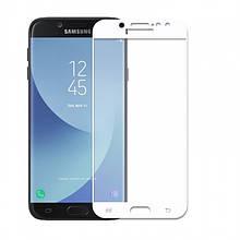Защитное Стекло Full Cover Для Samsung Galaxy J3 2016 Белое
