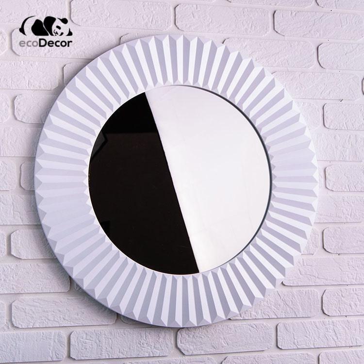 Зеркало в ванную белое Copenhagen K1