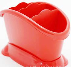 Подставка сушилка для столовых приборов пластиковая на 4 отделения
