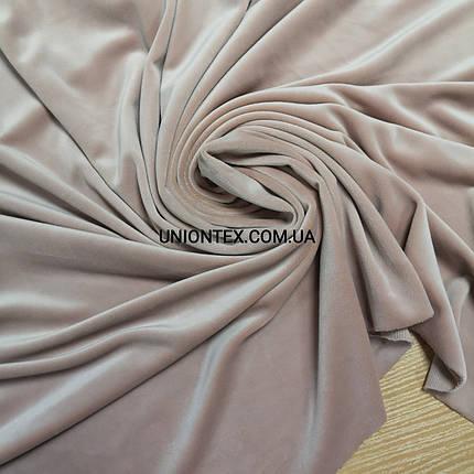 Ткань плюш-велюр пудра, фото 2