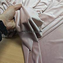 Ткань плюш-велюр пудра, фото 3