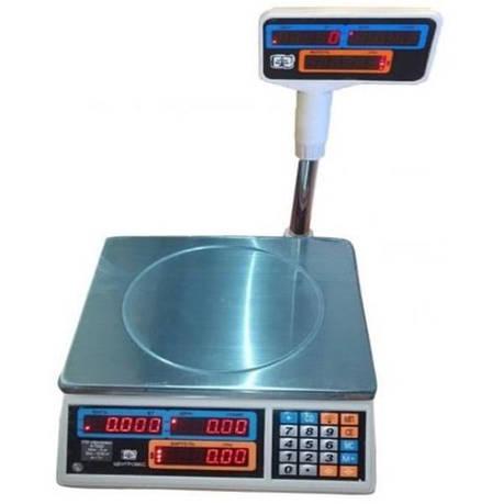 Весы торговые электронные ВТЕ-Центровес-30Т2ДВ-Н (30 кг), фото 2