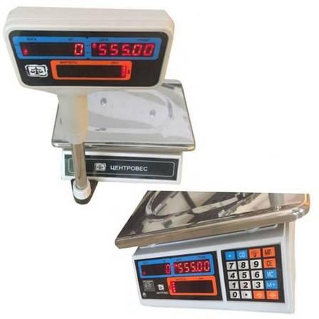 Ваги торгові електронні ВТЕ-Центровес-30Т2ДВ-Н (30 кг), фото 2