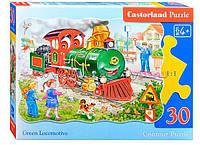 Пазлы Castorland Contour Puzzle Весёлый паровоз В-03433, 30 элементов