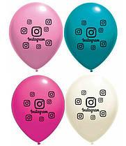 """Латексные шарики """"Instagram"""" 12"""" 4 цвета 10шт/уп Belbal"""