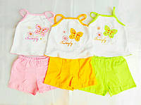 Детский комплект для  девочки Топ и Шорты 1,2,3,4,5 лет, фото 1