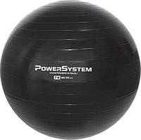 Мяч для фитнеса и гимнастики Power System, PVC, d-75см, черный (4013BK-0)