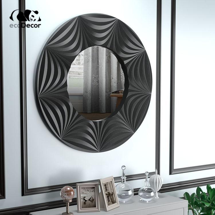 Зеркало в ванную черное Tallinn K1