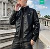 Легка і стильна чоловіча шкіряна куртка. (1205)