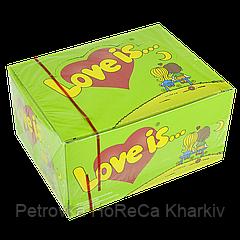 """Жувальна гумка """"Love is"""" Яблуко-Лимон 100 шт"""