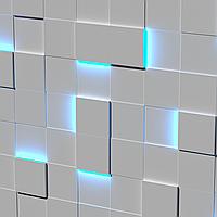 Гипсовые световые LED-панели Квадраты Texturo™