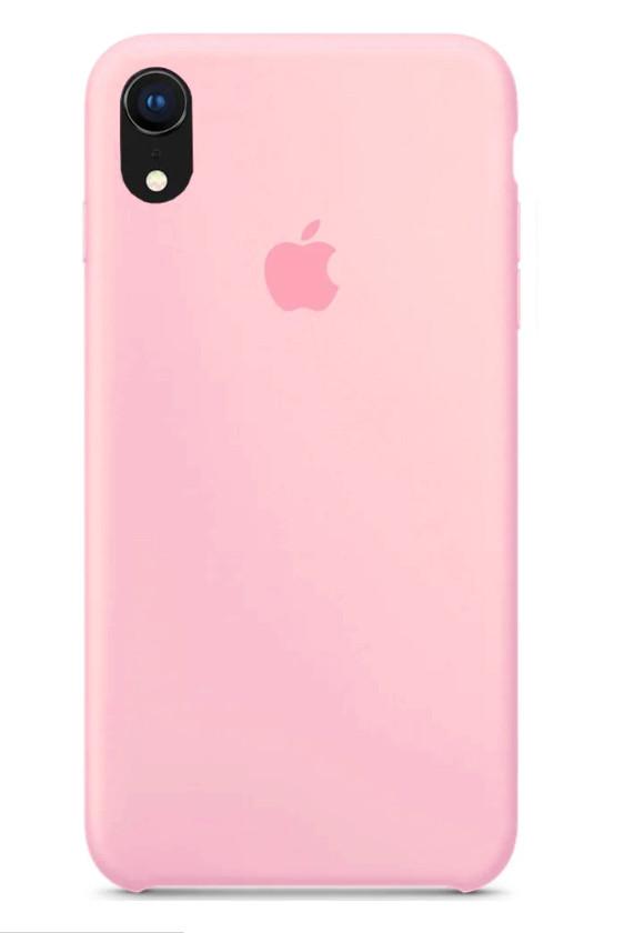 Задняя накладка Hi-Copy Silicone Case APPLE IPHONE XR (№12 LIGHT PINK)