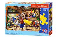 Пазлы Castorland Contour Puzzle Белоснежка и 7 гномов В-03754, 30 элементов