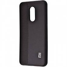 Силиконовый Чехол Label Case Leather + Perfo Для Xiaomi Redmi 5 Black