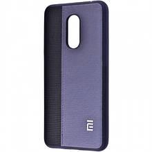 Силиконовый Чехол Label Case Leather + Perfo Для Xiaomi Redmi 5 Blue