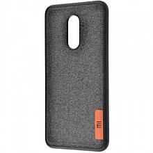 Силиконовый Чехол Label Case Textile Для Xiaomi Redmi 5 Black