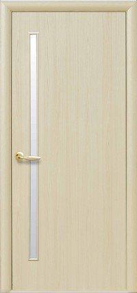Дверь межкомнатная Глория Ясень new 600 мм, со стеклом сатин, экошпон.