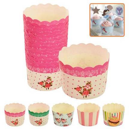 Формочки бумажные для кексов, 50шт/упак., MC6155PE, фото 2
