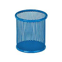 Подставка для ручек KITE, круглая, металлическая, голубая, K17-2110-07