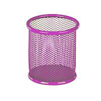 Подставка для ручек KITE, круглая, металлическая, розовая, K17-2110-10