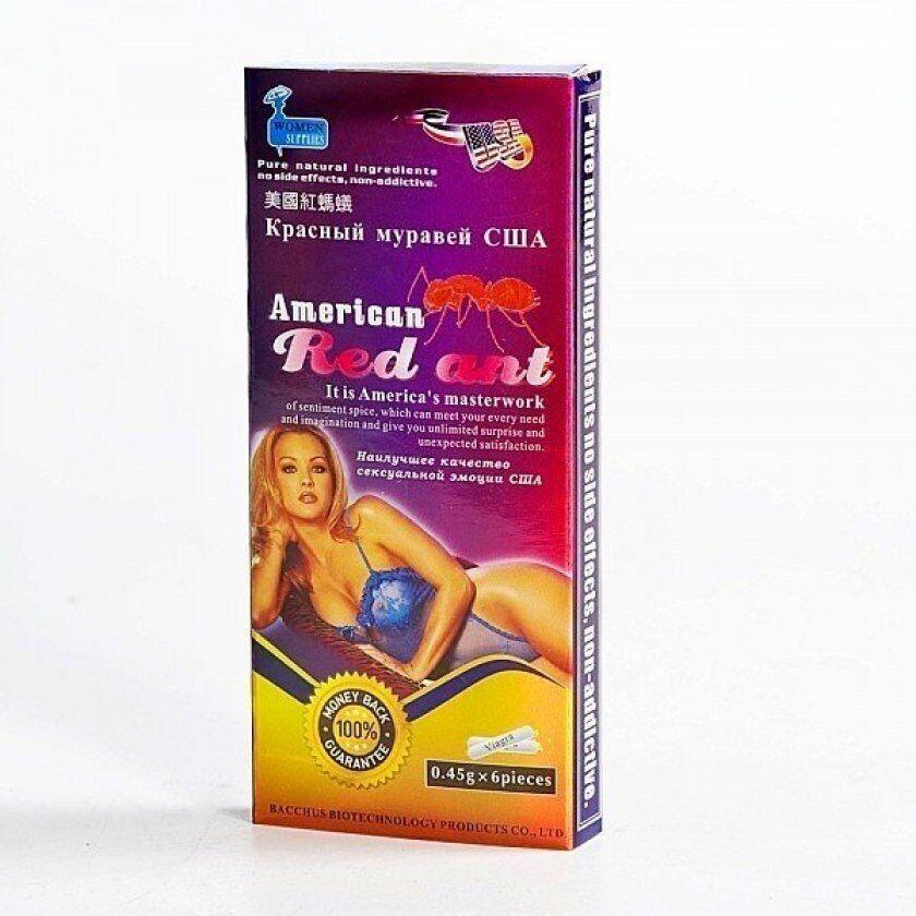 """Возбуждающие таблетки для женщин """" American Red Ant """""""