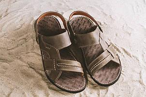 Мужские сандали кожаные летние коричневые Bonis Original 25