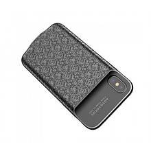 Чехол c Powerbank Baseus Plaid Backpack 3500Mah Для Iphone X Black