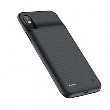 Чехол c Powerbank Hoco Bw6B Wayfarer For Iphone X/Xs 3500Mah Black