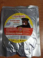 Корм  вологий  для собак Леопольд з яловичиною рисом та овочами вага 0.5 кг пауч