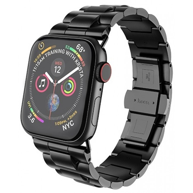 Ремешок Hoco Wb03 Grand Steel Для Apple Watch Series 1/2/3/4 (38/40Mm) Black