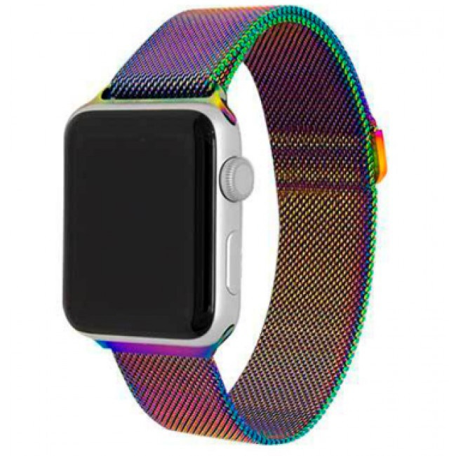 Ремешок Milanese Loop (Миланская Петля) Для Apple Watch 38Mm/40Mm Colorful