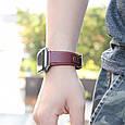 Kожаный Ремешок Hoco Wb04 Duke Series Для Apple Watch Series 1/2/3/4 (42/44Mm) Wine Red, фото 2
