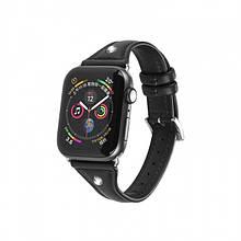 Kожаный Ремешок Hoco Wb05 Ocean Wave Для Apple Watch Series 1/2/3/4 (42/44Mm) Black