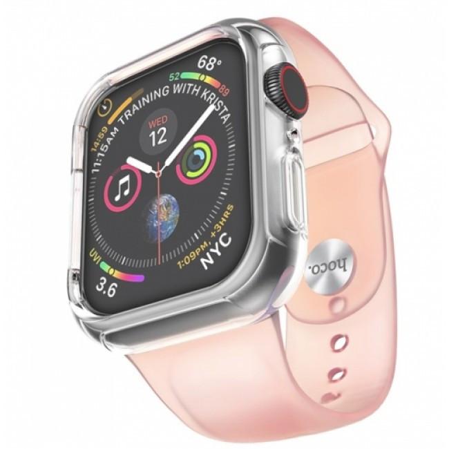 Pемешок Hoco Wb09 (С Бампером) Для Apple Watch Series 1/2/3/4 (42/44Mm) Pink