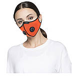 Защитная спортивная маска для бега и тренировок черная на 3 фильтра, фото 3