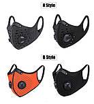 Защитная спортивная маска для бега и тренировок черная на 3 фильтра, фото 6