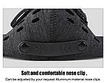 Защитная спортивная маска для бега и тренировок черная на 3 фильтра, фото 7