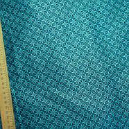 55004 Геометрический узор в клетке (синий). Ткани для пэчворка, скрапбукинга, квилтинга, кукол и аксессуаров., фото 2