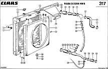 Радиатор водяной комбайна CLAAS DOMINATOR 106-108, фото 3