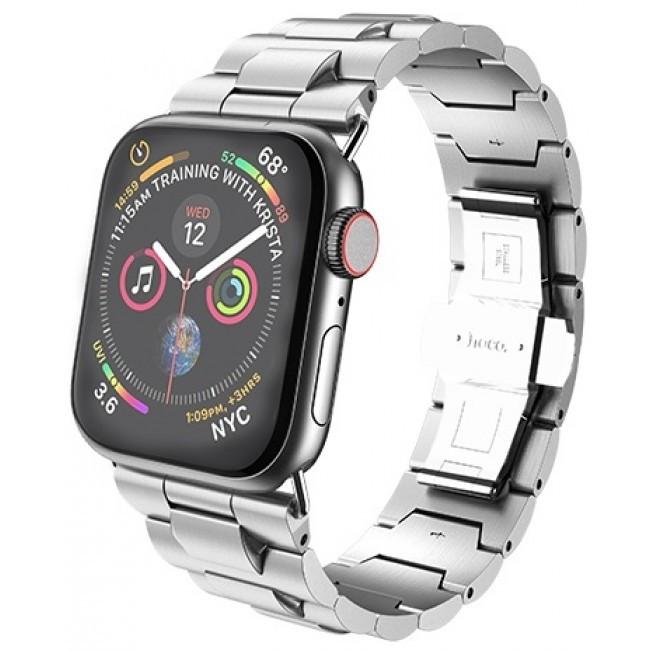 Ремешок Hoco Wb03 Grand Steel Для Apple Watch Series 1/2/3/4 (42/44Mm) Silver