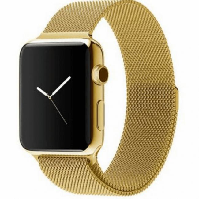 Ремешок Milanese Loop (Миланская Петля) Для Apple Watch 42Mm/44Mm Gold