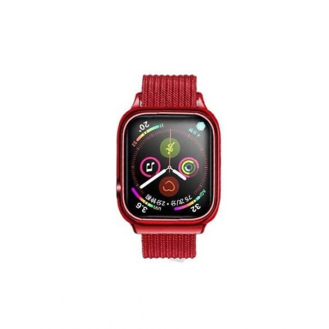 Ремешок Usams Us-Zb068 Magnetic Loop Для Apple Watch Series 1/2/3/4 (42/44Mm) Red