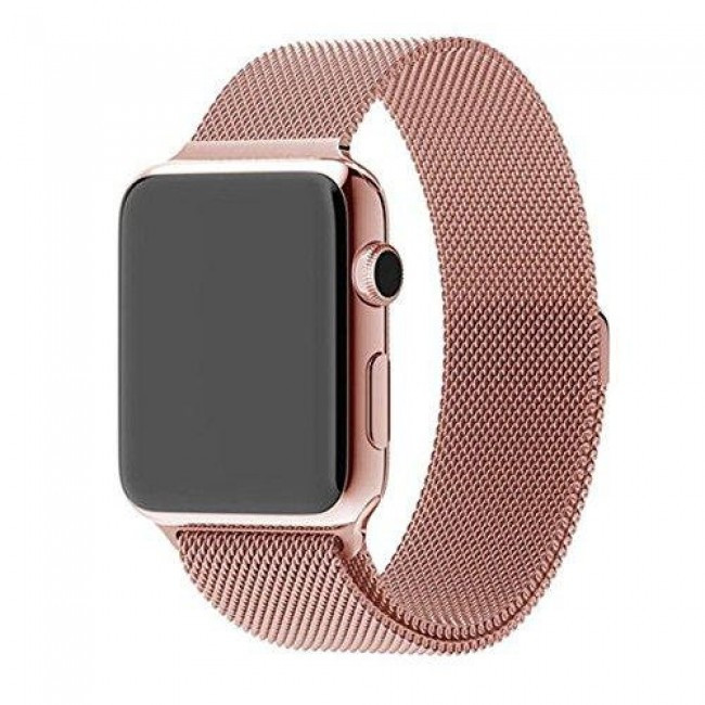 Ремешок Milanese Loop (Миланская Петля) Для Apple Watch 42Mm/44Mm Rose Gold