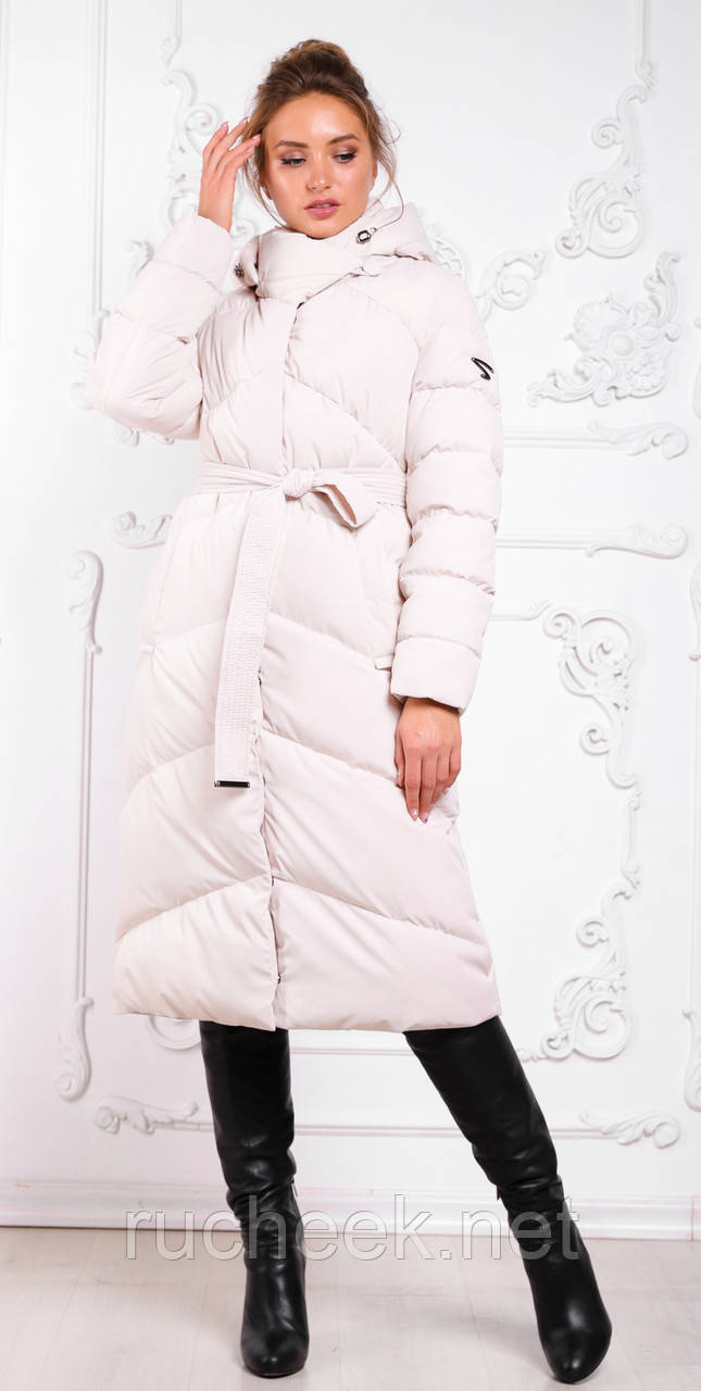 Модный пуховик зимнее пальто Магнолия размеры 54 - 56, ТМ NUI VERY