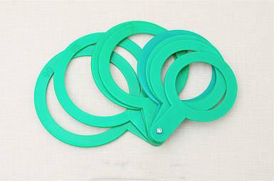 Пластиковый комплект для калибровки фруктов, 8 шт диаметр от 55 до 90 мм