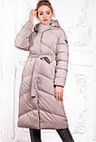 Модный пуховик зимнее пальто Магнолия размеры 54 - 56, ТМ NUI VERY, фото 4