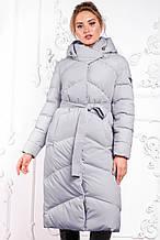 Модный пуховик зимнее пальто Магнолия размеры 52 - 56, ТМ NUI VERY